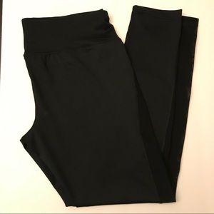 Black workout leggings with sheer panels L NWOT